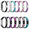 Fitbit Alta Bands Metal, Greeninsync Special Edition Fitbit Alta HR Stainless Steel Bands Adjustable Replacement Accessory Wristband Small Large for Alta Bracelet Women Men Girls Boys