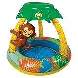 Poolmaster 81543 Learn-to-Swim Go Bananas Monkey Swimming Pool with Sun Protection, Monkey
