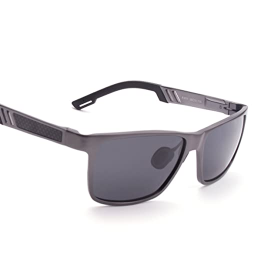 ELITERA Aluminium Magnesium polarisierte Mann Sonnenbrille für Sport Driving Reisen E6560 (Grau&Grau) e0mWYN4