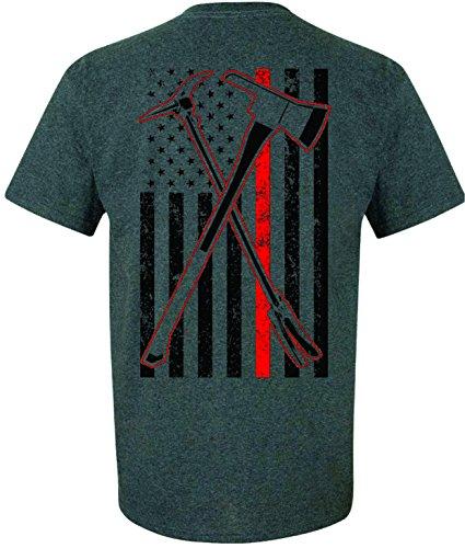 Patriot Apparel Axe Haligan 2 Hero Thin Red Line Firefighter T-Shirt (2X-Large, Dark -
