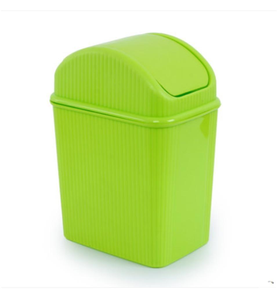 YUSHI Papelera de Basura Escritorios Bases de Basura Cubo Cubo Cubo de sacudir Mini Cubo de Basura Cubo de Basura plástico, Verde 792419