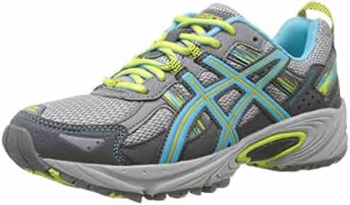 ASICS Women's Gel-Venture 5 Trail Runner, Silver Grey/Turquoise/Lime Punch, 8