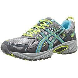 ASICS Women's Gel-Venture 5 Running Shoe, Silver Grey/Turquoise/Lime Punch, 9 M US