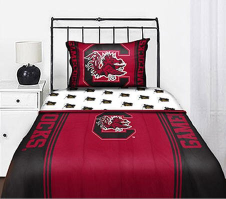 (South Carolina Gamecocks Full Comforter & Sheet Set (5 Piece Bed In A Bag))