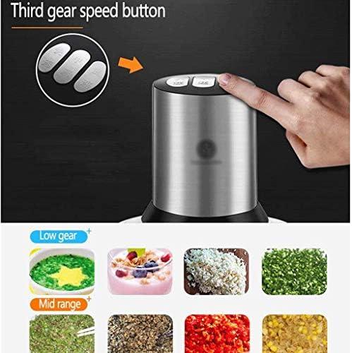 DYXYH Elektrische voedselhakselaar, keukenmachine met titanium coatingbladen en roestvrijstalen kom, snelheid keukenvleesmolen vleesmolen vleesmolen voor fruitkaasnoten