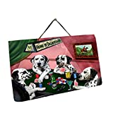 Home of Dalmatian 4 Dogs Playing Poker Photo Slate Hanging