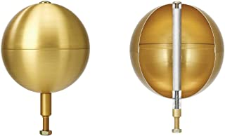 "product image for Martin's Flag Heavy-Duty Gold Aluminum Flagpole Balls, Various Sizes, The Best Gold Flagpole Ball Available (4"" Ball)"