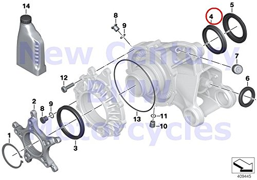 BMW Genuine Motorcycle Right-Angle Gearbox Single Parts Shaft Seal 59.8X75X7.5 R1200GS R1200GS Adventure R1200RT R1200R by BMW