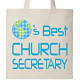 Inktastic - Church Secretary Planets Best Tote Bag Natural 1c9f0