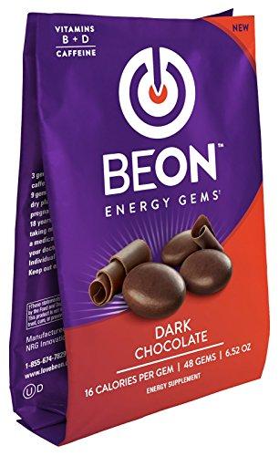 BeON Energy Boost Gems (Energems), Dark Chocolate 133 mg Caffeine & B6 B12 D-Vitamins Per Serving, 1 Coffee Bag w/48 chocolate gems