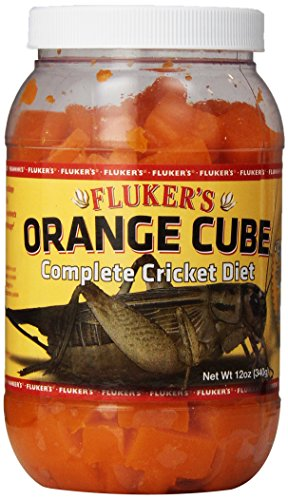 - Fluker's 71301 Orange Cube Complete Cricket Diet, 12oz