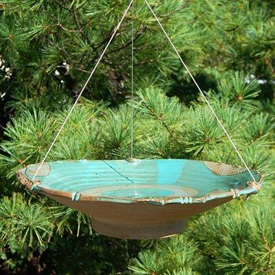 Large Birdbath (Anthony Stoneware Ceramic Bird Bath, Large, Teal)