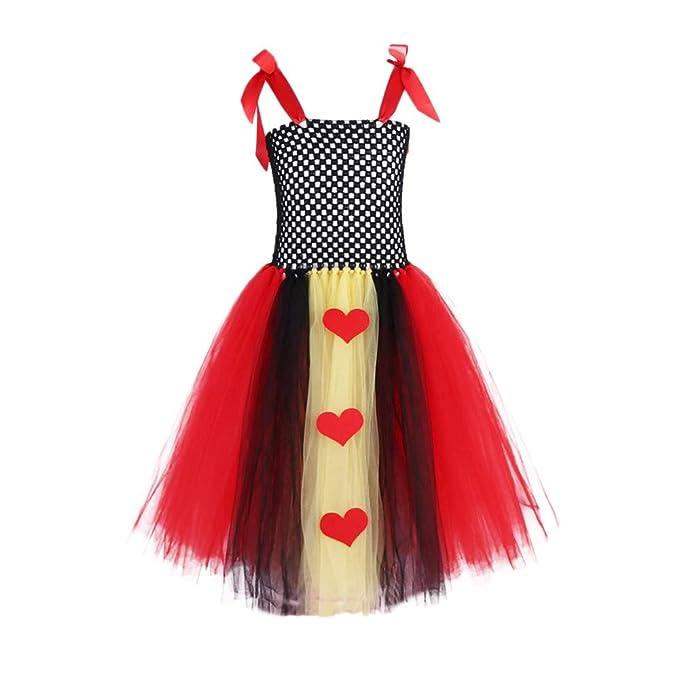 LEvifun Vestito Principessa per Ragazza Elegante Floreale Fiore Pizzo Abiti  da Sera Matrimonio Tulle Lungo Festa Comunione Cerimonia Compleanno  Carnevale ... 71354b6da57