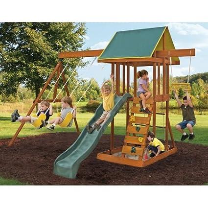 Amazon Com Big Backyard Meadowvale Ii Wooden Play Set Toys Games