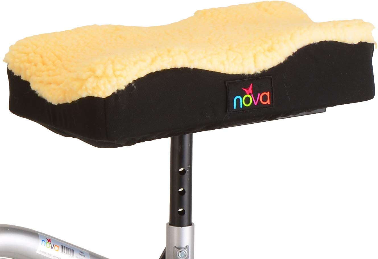 NOVA Medical Knee Walker Cushion Cover, Thick Padded Fleece Faux Sheepskin Top, Easy to Fit Most Knee Walkers & Knee Scooters, Washable by NOVA Medical Products