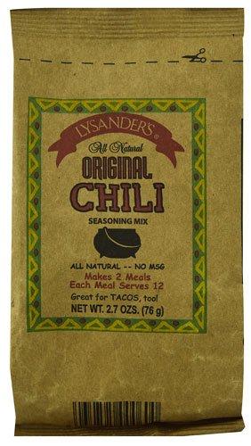 Lysander's All Natural Original Chili Seasoning Mix -- 2.7 oz - 2 pc