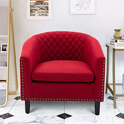 Goujxcy Accent Barrel Chair