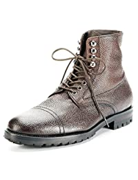 J.Lindeberg Stivaletto Grained Leather Lug-Sole Boot MADE IN ITALY