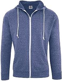 Delta Hoodies for Men Snow Heather French Terry Full Zip Hoodie Hooded Sweatshirt