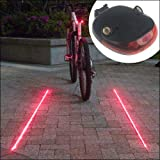Candance 2 Laser 5 LED Cycling Bicycle Bike Flash Taillight
