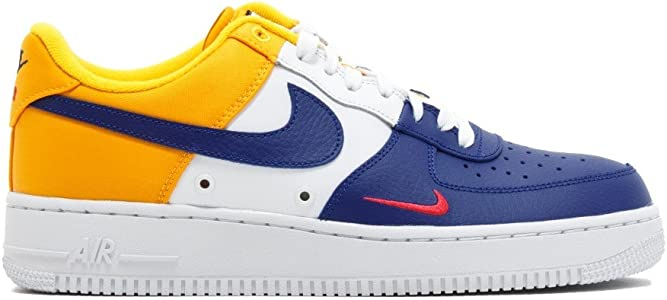 Zapatillas NIKE Air Force 1 Azul/Amarillo Hombre: Amazon.es ...