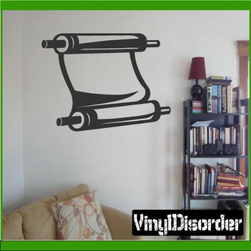 """Vinyl Disorder ReligionMC026 Scroll Car Wall Decal, 36"""", Bla"""