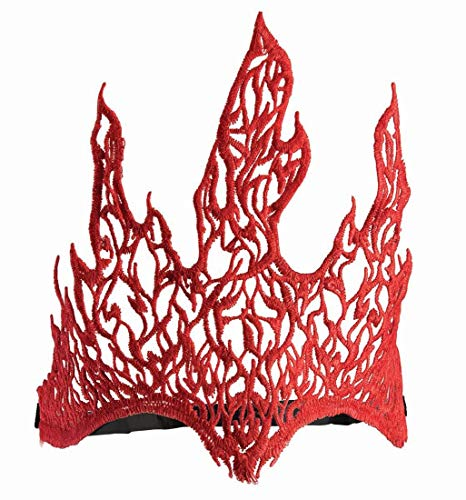 Fire Crown Costumes - Forum Novelties Lace Flame Crown, Red,
