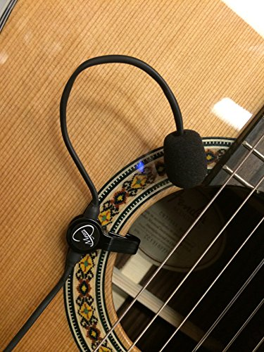 "CLASSICAL GUITAR MICROPHONE,""THE FEATHER"" with FLEXIBLE MICRO-GOOSE NECK by Myers Pickups ~ See it in ACTION! Copy and paste: myerspickups.com, Classical Guitar Microphone"