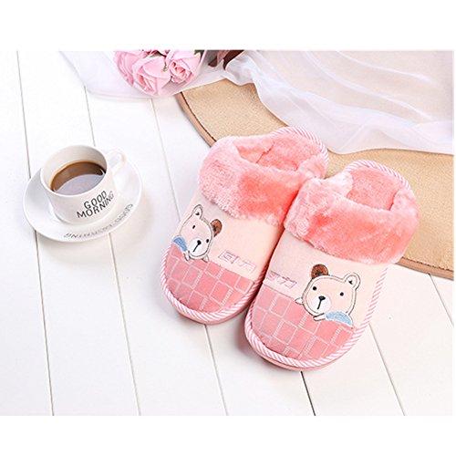 Pink Comfortable Men's Slip Foam 1 Classic Indoor Women'sRelaxed Memory BERTERI Slippers On House and w7xddB