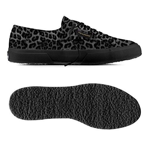 Superga 2750-leahorseu - Zapatillas de deporte Unisex adulto Leopard Black