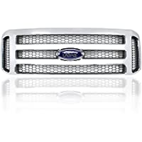 Factory Ford Chrome 05-07 Super Duty/Excursion Grille MODIFED Fits 99-04 (Genuine OEM Ford Grille and Emblem)