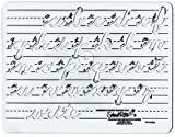 Template Cursive Lowercase Letters and Numbers