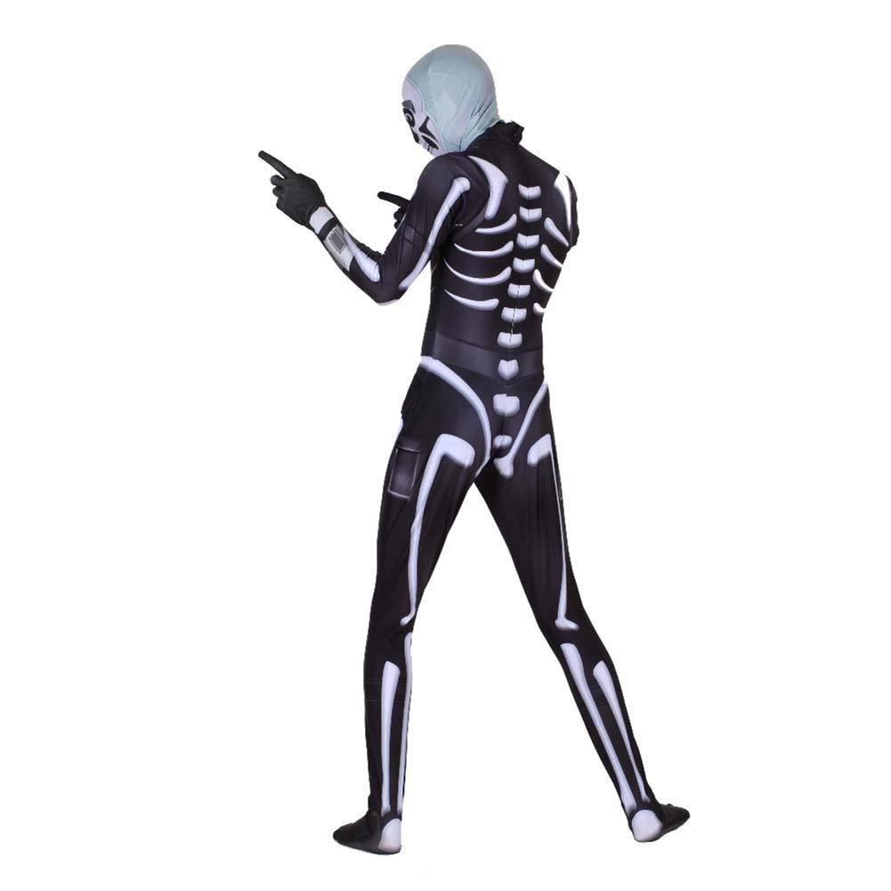 KELYNN Fortnite Skull Trooper Costume Halloween Man Spandex