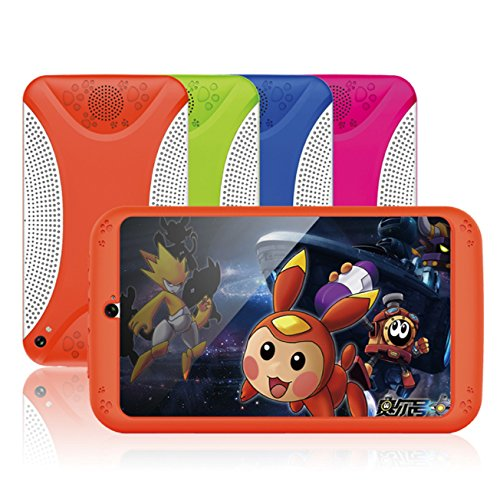 7'' Kids Tablet PC, Q798 Android 4.4 8GB ROM 512MB RAM Tablet Dual Camera WiFi USB Phablet Silicone Case by XINSC (Image #2)
