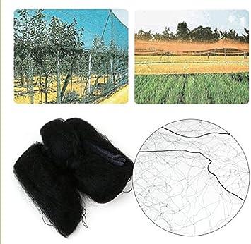 Gr/ö/ße : 8 * 3M Vogelschutznetz Schwarzes Anti-Vogelschutznetz verhindert das Fangen von Fr/üchten im Garten