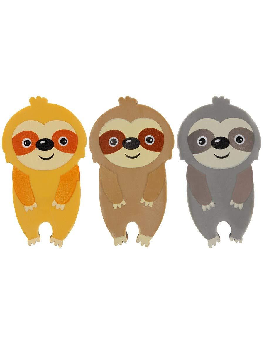 Take It Easy Hug Sloth Erasers Set of 3