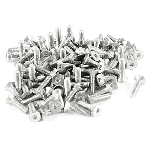 UPC 702105406731, 100pcs 304HC Stainless Steel Hex Countersunk Flat Bolts Screws M2.5x10
