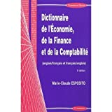 Image de Dictionnaire de l'economie, de la finance et de la comptabilite / English to French and French to En