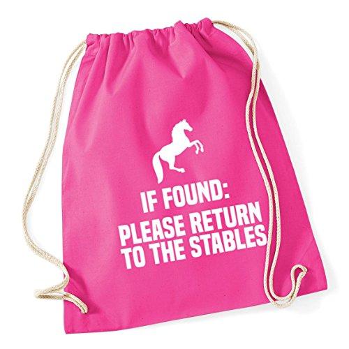 to litres HippoWarehouse If 12 Gym Fuchsia Cotton the 46cm Return Sack School Stables Bag x 37cm Please Kid Drawstring Found wUIrqdUg