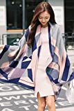 Generic Autumn and winter in Europe and America geometric double-sided cashmere scarves women girls lady imitation wool shawl scarf dual air conditioning thickened College Wind