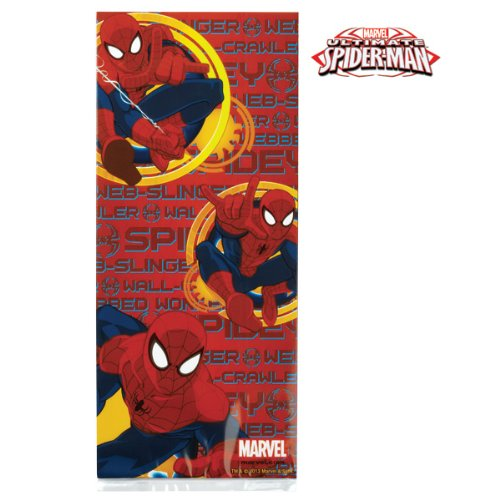 Spider Man Ultimate Treat Bags with Ties - 4in. x 9.5in. - 16 Bags and 16 Ties