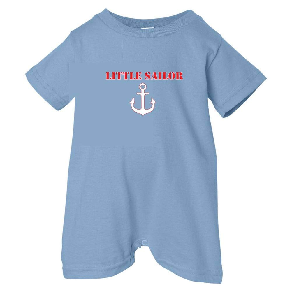 Lt. Blue, 24 Months Pirates /& Anchors Unisex Baby Little Sailor Baby /& Toddler T-Shirt Romper