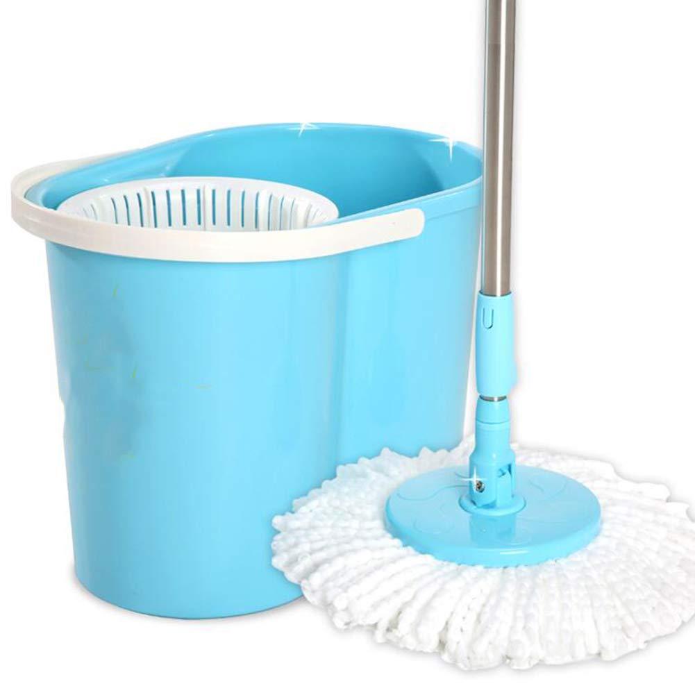 モップ 回転する 湿気と乾燥 手の圧力 自動脱水 モップのバケツ、 青 B07JW6L34H