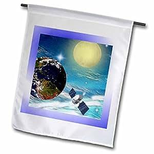 SmudgeArt Sci Fi Designs - Space Station - 18 x 27 inch Garden Flag (fl_18531_2)