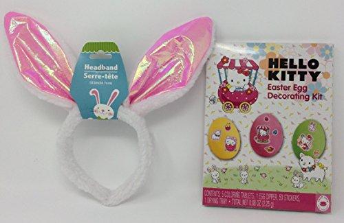 Easter Bunny Headband and Easter Egg Decorating Kit (Hello (Hello Kitty Costume Head)
