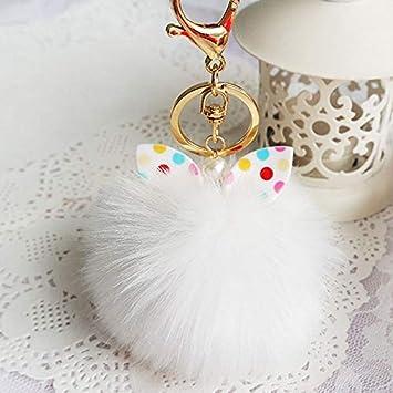 Jingyuu Porte Clef Pompon Porte Cl/é Femme Pompon Porte-cl/és Voiture Cl/és Keychain T/él/éphone Sac Pendentif Porte Clef