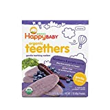 Happy Family Baby Organic Teething Wafers, Blueberry and Purple Carrot, 1.7 oz