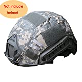 H World Shopping Outdoor Airsoft Paintball Tactical Military Gear Combat Fast Helmet Cover (ACU)