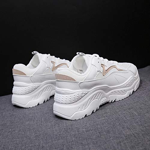 Zarupeng Donna Estive Moda Corsa Sneakers Stringate Lavoro Ginnastica Scarpe Eleganti Cachi Sportive Da 4wrBp4qa