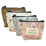 Retro Money Bag Small Cute Coin Purse(Pack of 4) (Pattern 2)
